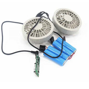 Rechargeable 18650 5200mAh Li-ion battery pack for summer cool clothes fan